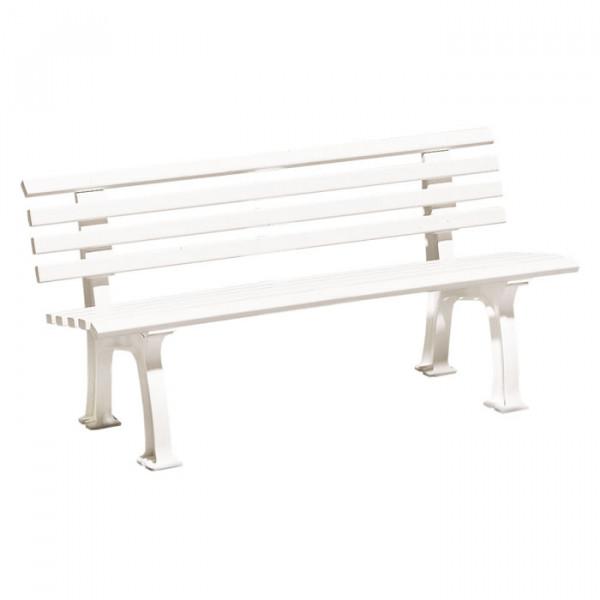 Sitzbank Comfort mit 150 cm Länge und 2 Beinpaaren.