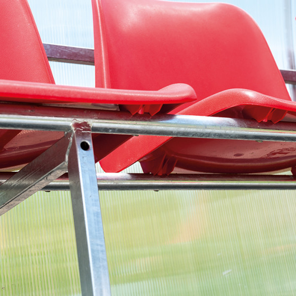 Ersatzsitze für Spielerkabine, feuerfest für Metallkonstruktion