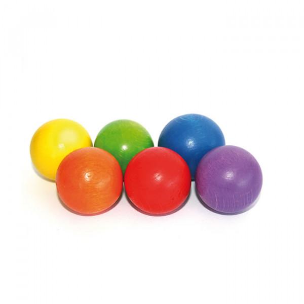 Ersatzkugelset A (6er Set, farbig) für Balancierbretter
