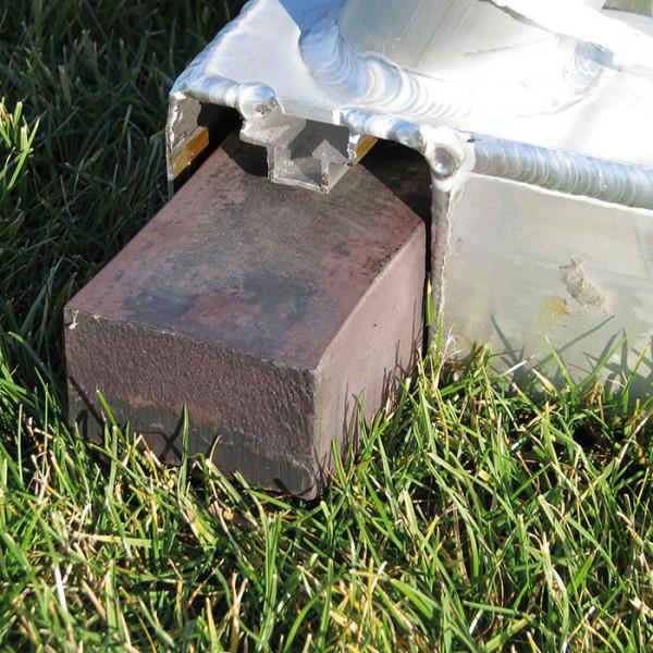 Stahlgewichte Jugend-Tor mit Rollvorrichtung, 8 Stück