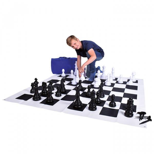 Garden Chess - Riesenschach mit Spielematte