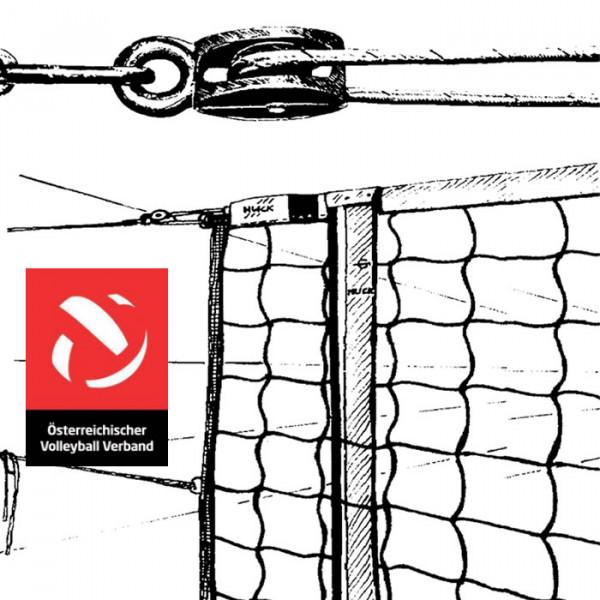 Volleyballnetz ÖVV TURNIER MIT UMLENKROLLE
