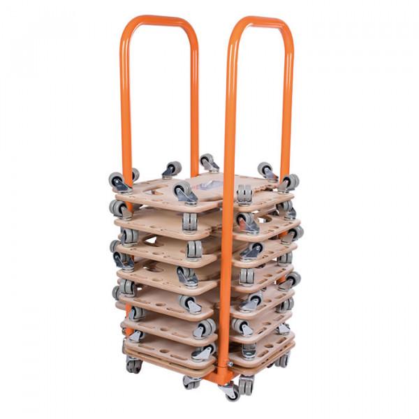 Transportwagen Compact für Rollbretter Holz