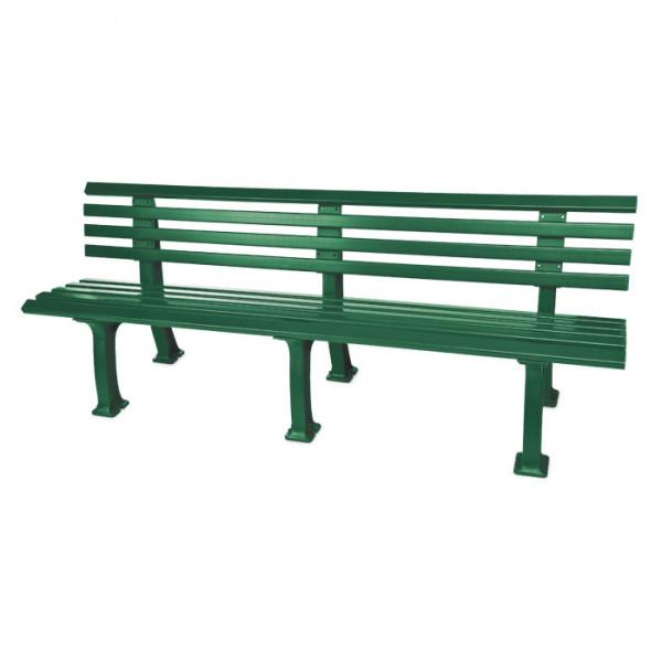 Sitzbank Comfort mit 200 cm Länge und 3 Beinpaaren.