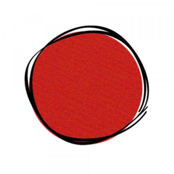 Umänderung in Farbe ROT Reisstrohprägung