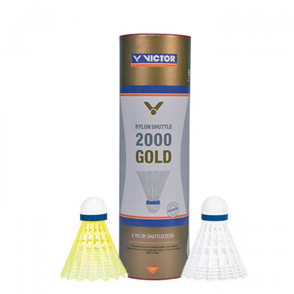 Badmintonball VICTOR NYLON SHUTTLE 2000 GOLD