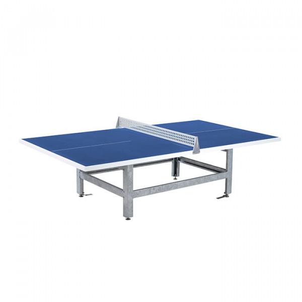 Polymer Fero Rechtwinkeling, blaue Tischplatte