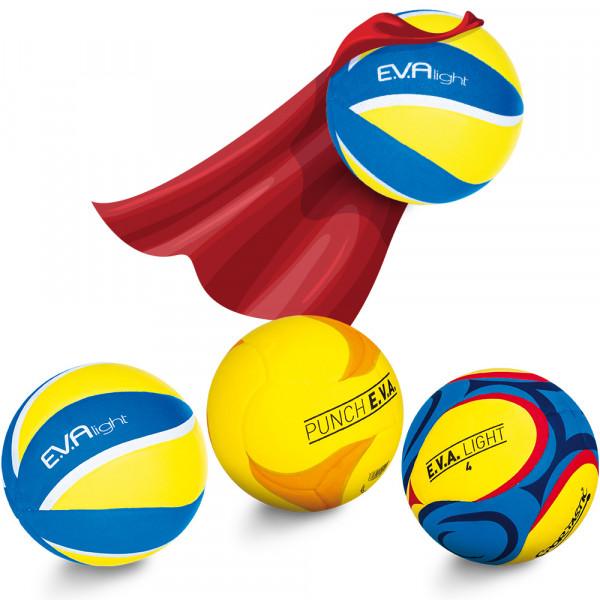 E.V.A. Set - Spiel- Wurfball, Volleyball und Fußball
