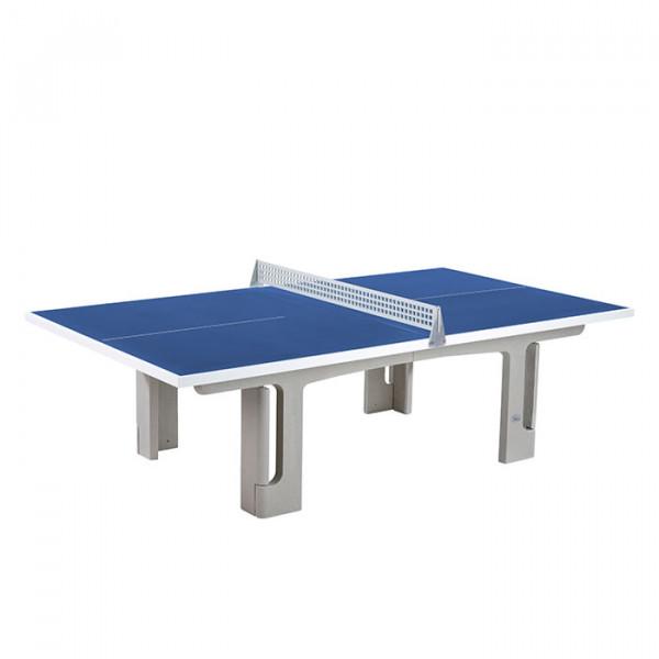 Polymer Solido Rechtwinkelig, blaue Tischplatte
