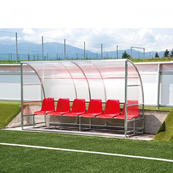 6 Sitze - Spielerkabine EXPERT VOLLVERSCHWEISST
